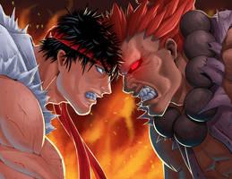 SF Tribute Ryu VS Gouki by Kougen
