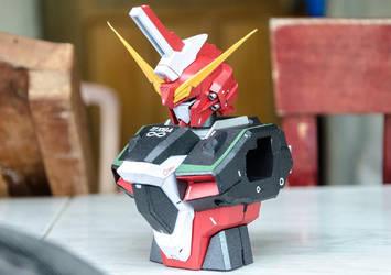 ZGMF- X19A Infinite Justice Gundam papercraft WIP by PitchBlack-Ixhieen