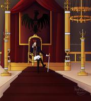 An emperor's throne room by HoshikoxHikari