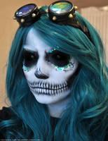 Glam Skull Halloween Makeup by FinstereFrau