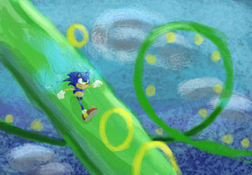 Sonic by RandomFlyingBananas