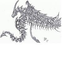 Tribal Dragon by Helletic-Hybrid