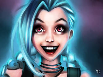 Jinx from League of Legends by HaitiKage