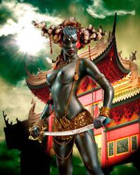 Temple Guard Priestess 3 by OzSpiniello