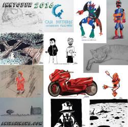Collage Inktober2016 by AkiraHikawa