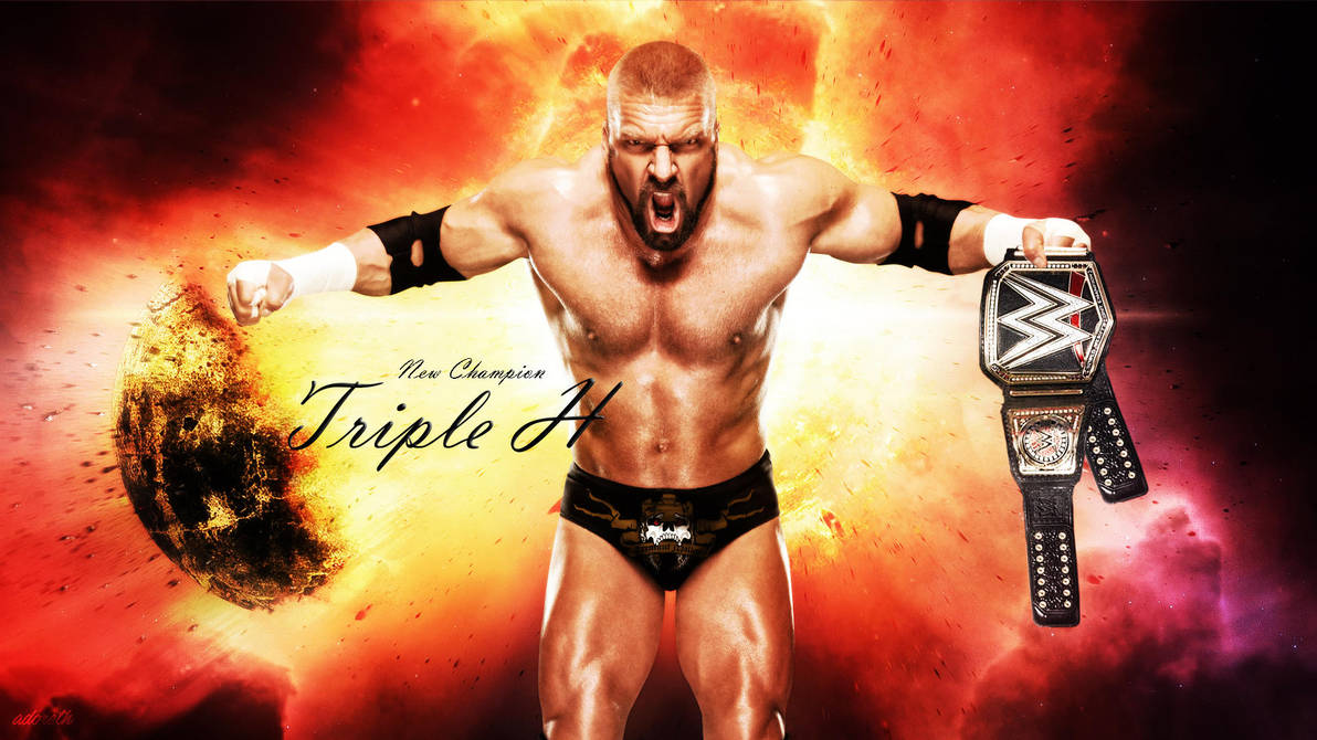 New Champion Triple H Wallpaper By Menasamih On Deviantart