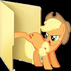 Applejack custom folder icon by Ferasor