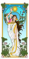 ArtNouveau-Sarasvati fixed by LadyMako