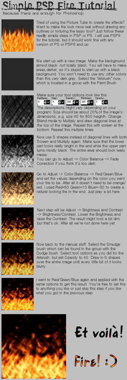 Simple Fire Tutorial by raikoufighter