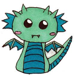 Chibi Dragon by l33totakugirl22