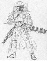 Mandalorian Heavy Gunner by Kuk-Man