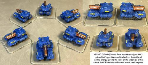 Monsterpocalypse: Grunt G-Tanks by dvandom