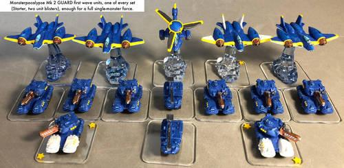 Monsterpocalypse: GUARD units wave 1 group shot by dvandom