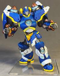 Monsterpocalypse: Defender X in Cygnar colors by dvandom