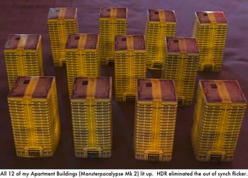 Monsterpocalypse: Flickering Apartment Buildings by dvandom