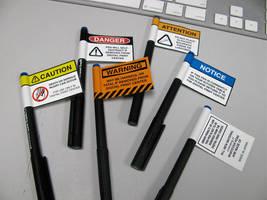 Pen Warnings by Karwei
