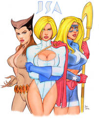 The JSA Girls by Tarzman