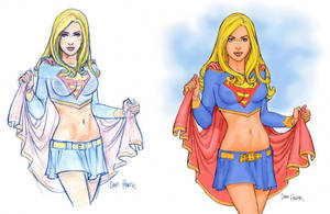 Supergirl Sketch and Finish by Tarzman