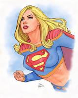 Supergirl Portrait by Tarzman