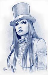 Zatanna Sketch by Tarzman