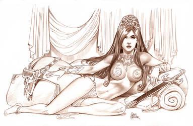 Princess Sketch by Tarzman