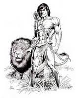 Tarzan and Friend by Tarzman