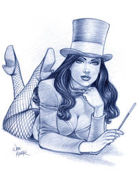 Zatanna Sketch 6 by Tarzman
