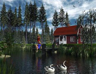Swedish Summer by xmas-kitty