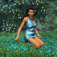 Blue Flowers by xmas-kitty
