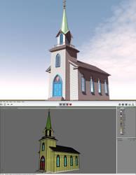 Wooden Church by xmas-kitty