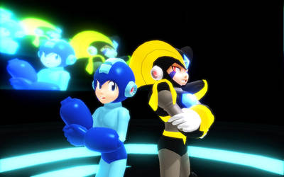 [MMD Newcommers] Megaman and Bass by Trouble-san