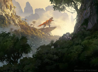 Rootbound Crag - Magic the Gathering by 88grzes