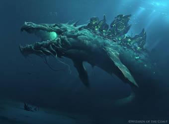 Slinn Voda, the Rising Deep - Magic the Gathering by 88grzes