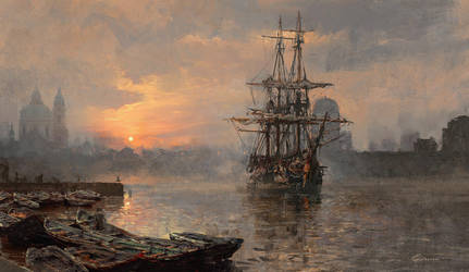 Harbor sunrise by 88grzes
