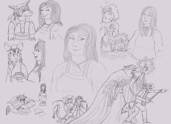 Henrietta sketchdump by queenmoreta