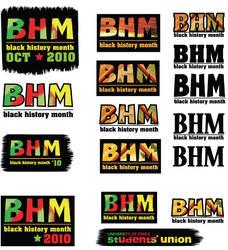 Black History Month Logos by mapgie