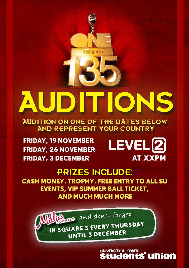 1 out of 135 Auditions by mapgie