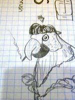 Communist Parrot by mapgie
