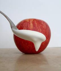 Apple and Yoghurt by mapgie