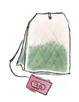 Tea bag illustration by mapgie