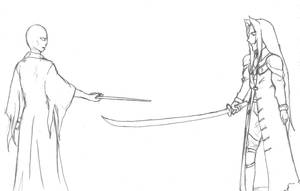 Voldemort vs. Sephiroth by Elegant-Ruin