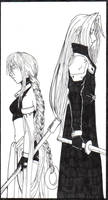 Back to Back: Arcon-Sephiroth by Elegant-Ruin