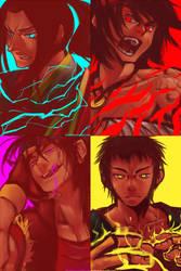 Male Fighters by jinglestan
