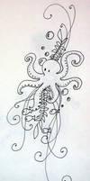Octopus Tattoo Design by MichiyoYlaitsuki