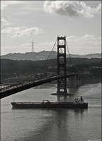 Golden Gate B+W by NaujTheDragonfly