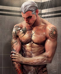 Shower time!! by aenaluck