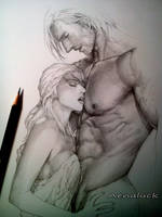 Love scene by aenaluck
