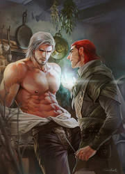 Master vs Red hair man V.2 by aenaluck