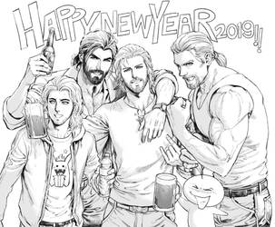 Happy new year 2019! by aenaluck