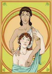 Sappho und Gongyla by Nonosama